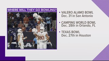 Which bowl game will the Texas Longhorns go to?