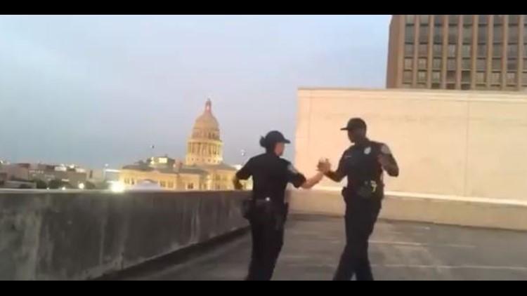 APD officers take on the 'Git Up' dance challenge | kvue com