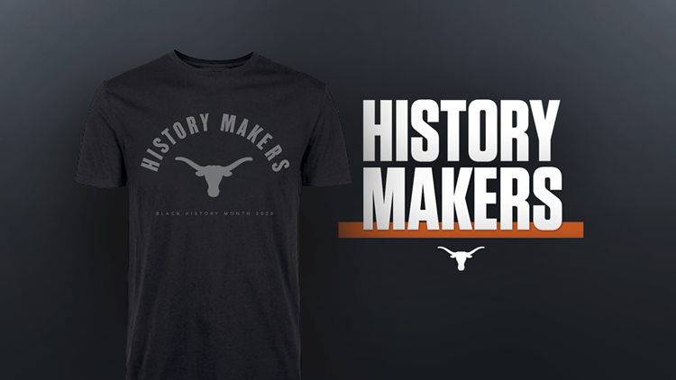 History Makers T-shirts UT black history month 2020