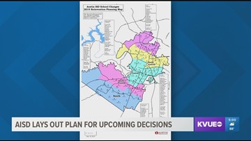Austin ISD finalizes new map to be used as part of 'School Changes Process'