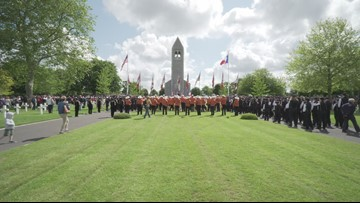 Longhorn Alumni Band performs at D-Day anniversary