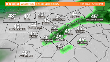 Gloomy and wet forecast Thursday for Central Texas