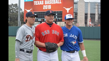 It was a Clemens family reunion at Disch-Falk Field for the UT Alumni Game