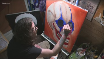 San Marcos man uses artwork to help himself, others