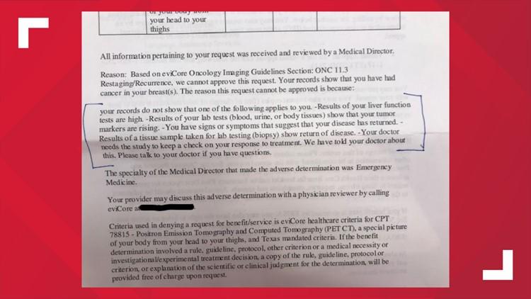 leah PET scan denial