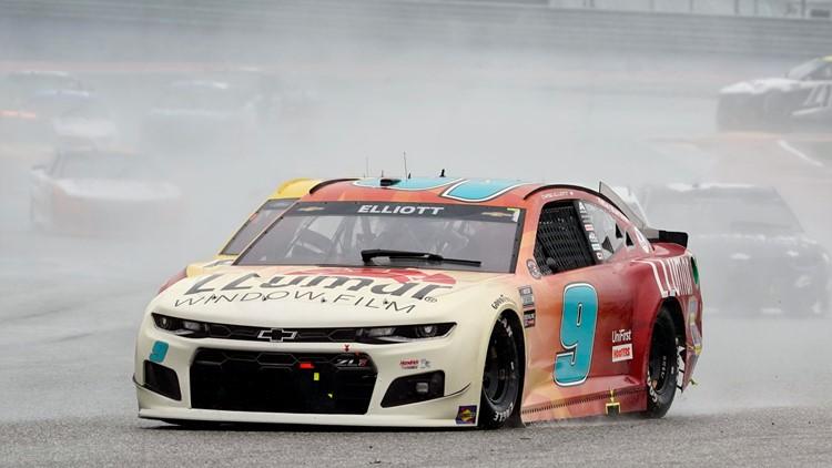 PHOTOS: Chase Elliott wins rain-shortened NASCAR Cup debut in Austin