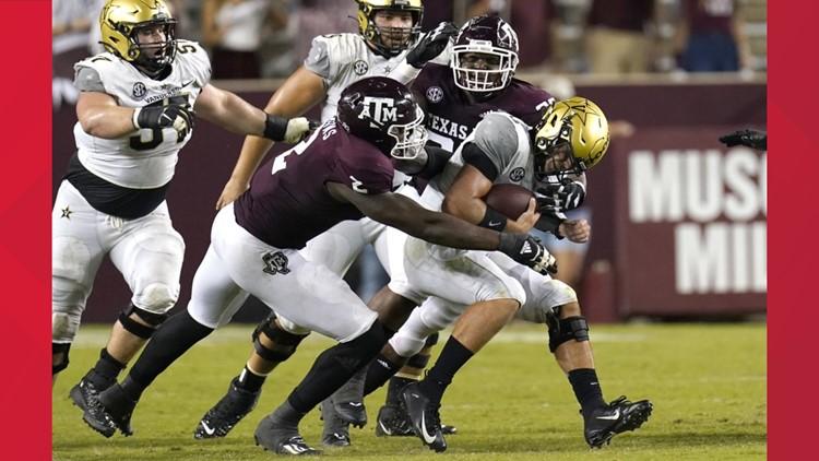 Texas A M Aggies Football Score Recap Vs Vanderbilt Commodores Kvue Com