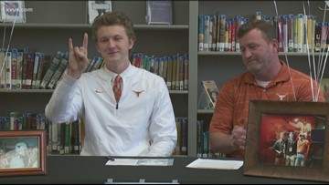 Sam Saxton follows his family's legacy signing with the Longhorns