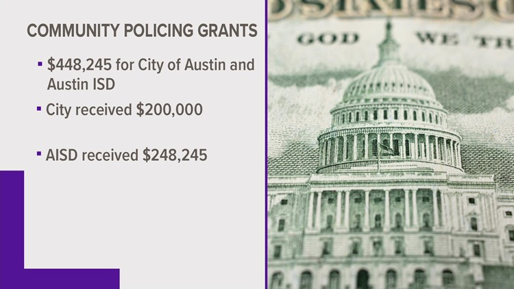 $448,000 in community policing grants headed to City of Austin, Austin ISD