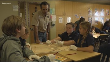 George P. Bush visits Round Rock students for a day of Texas history