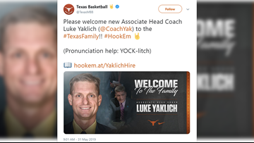 Texas Longhorns hire assistant basketball coach from Michigan