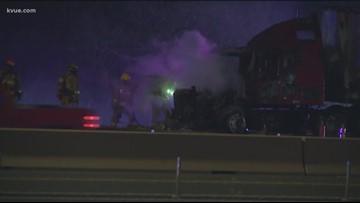 Southbound Mopac shut down due to 18-wheeler fire