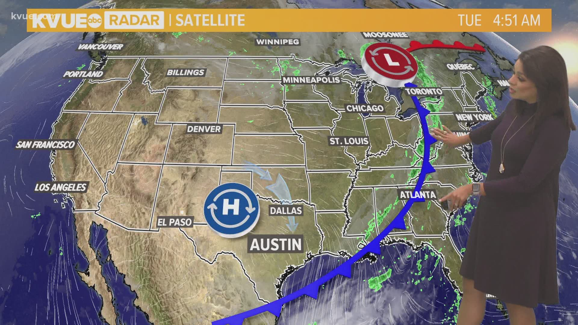 Weather Map Austin Texas Sweater weather is back in Central Texas | kvue.com
