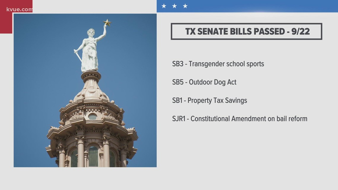 Texas third special session: Senate passes four bills, sending them to House