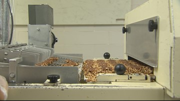 RAW: Making chocolate treats at Lammes Candies in Austin