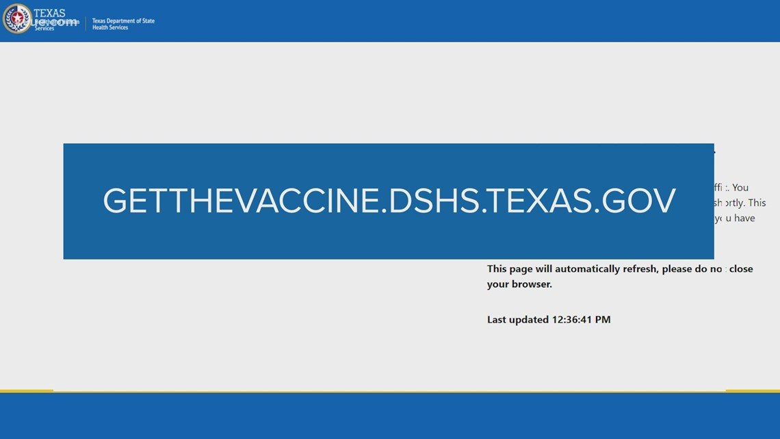 Texas DSHS launches online COVID-19 vaccine scheduling portal