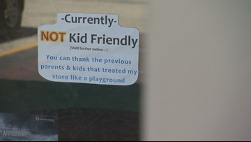 Austin's The Great Outdogs displays 'NOT Kid Friendly' sign