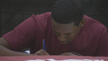 Traylor inks commitment, makes history at Manor New Tech