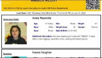 AMBER Alert issued for Avery Reynolds