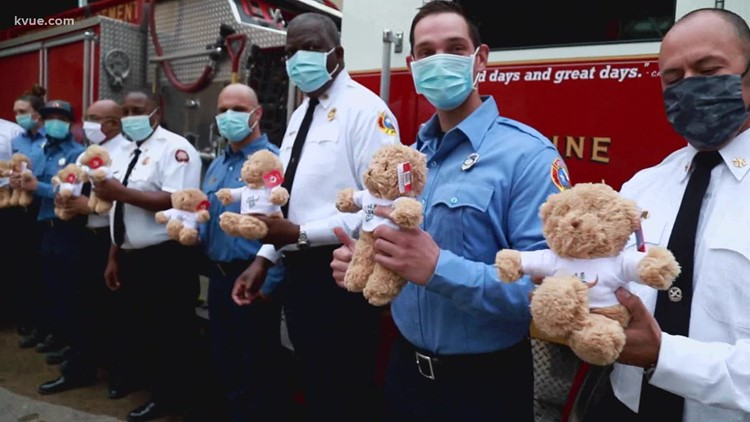 Bear hugs for Texas: Austin Fire Department receives bears to comfort children affected by Texas winter storms