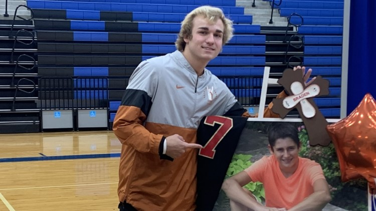 Playing for Braden: Memory of late cousin fuels Whitehead as he begins Texas baseball career