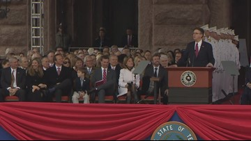 WATCH: Chuck Norris makes appearance at Texas inauguration for Gov. Abbott, Lt. Gov. Patrick
