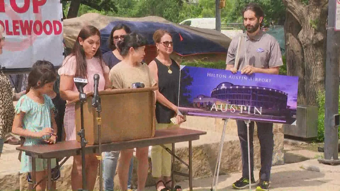 VIDEO: 'Stop Candlewood Suites' coalition gathers to propose alternative site