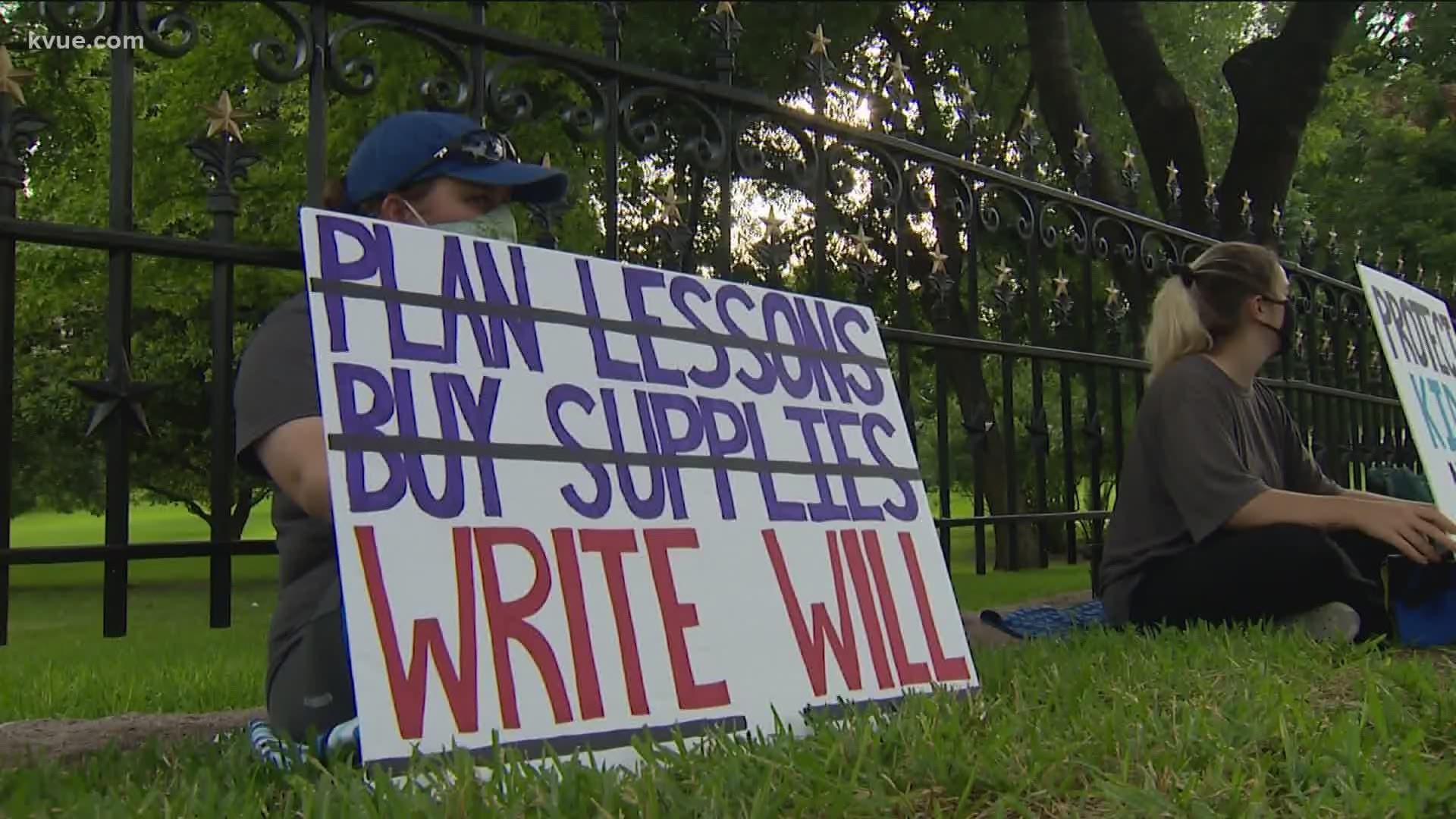Teachers hold sit-in protest at Texas Capitol to demand changes on ...