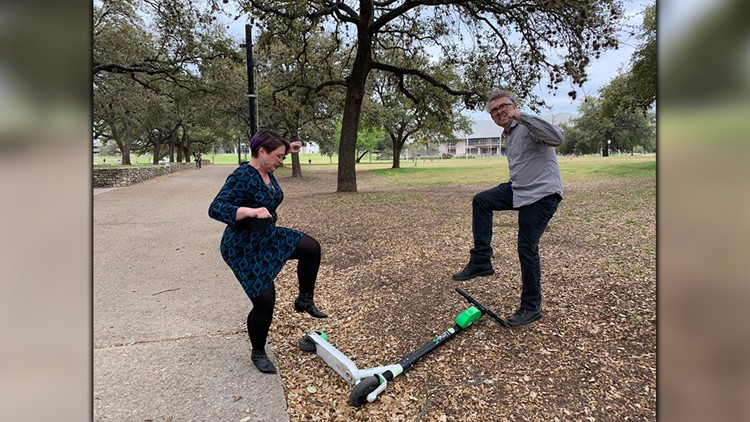 Scooter jam! Austin couple takes 'Office Space' inspired engagement photo