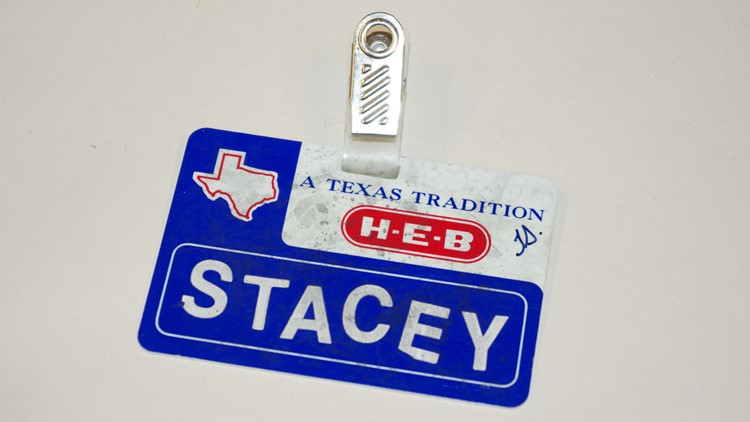 Stacey Stites' H-E-B employee tag
