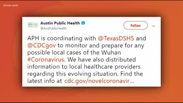 Austin Public Health on alert after first US case of China coronavirus confirmed