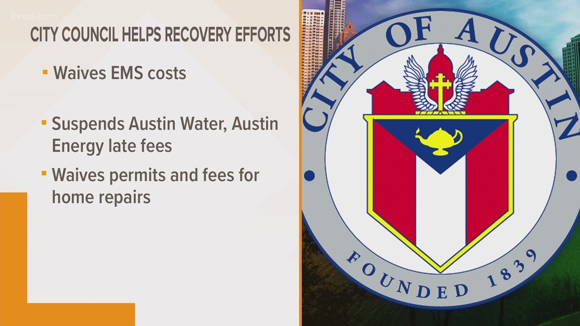 Austin recovery efforts: City waives EMS fees, suspends utility late fees