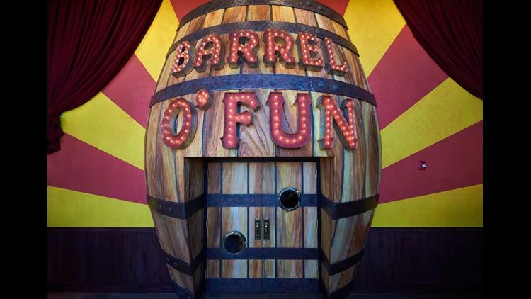 Barrel O' Fun at Alamo Drafthouse's Mueller location.