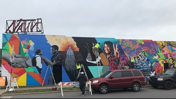 Mural created during SXSW 2019 to remain on Austin storefront long after festival ends