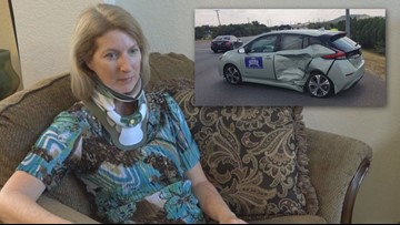 Texas State Rep. Vikki Goodwin questions red-light camera ban after driver runs red light, T-bones her car
