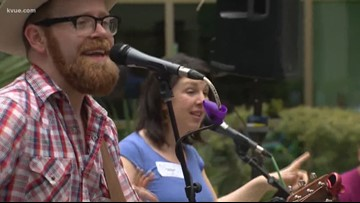 SXSW musicians stop by Dell Children's