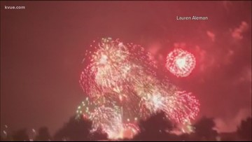 Firework malfunction sparks spectacular show in Kyle