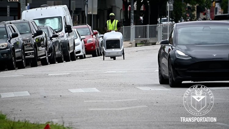 Austin Transportation Department testing delivery bots on South Congress