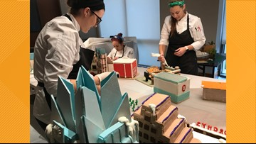 Edible gingerbread village features Austin and its sister cities