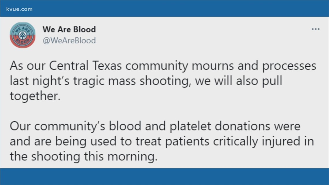 We Are Blood encouraging donations after Sixth Street shooting