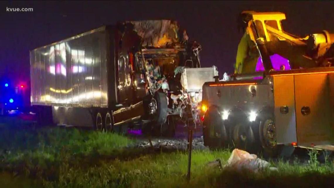 Semi Truck Carrying Medical Equipment Catches Fire Blocks Traffic