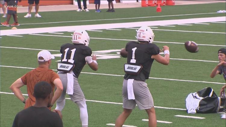 Texas Football yet to name starting quarterback for upcoming season