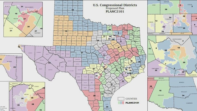 Texas releases first draft of U.S. Congressional District map