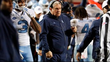 Tar Heels bowl eligible in 1st year of former Texas coach Mack Brown's return