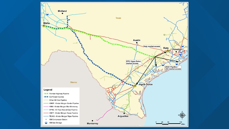kinder morgan pipeline PHP Map