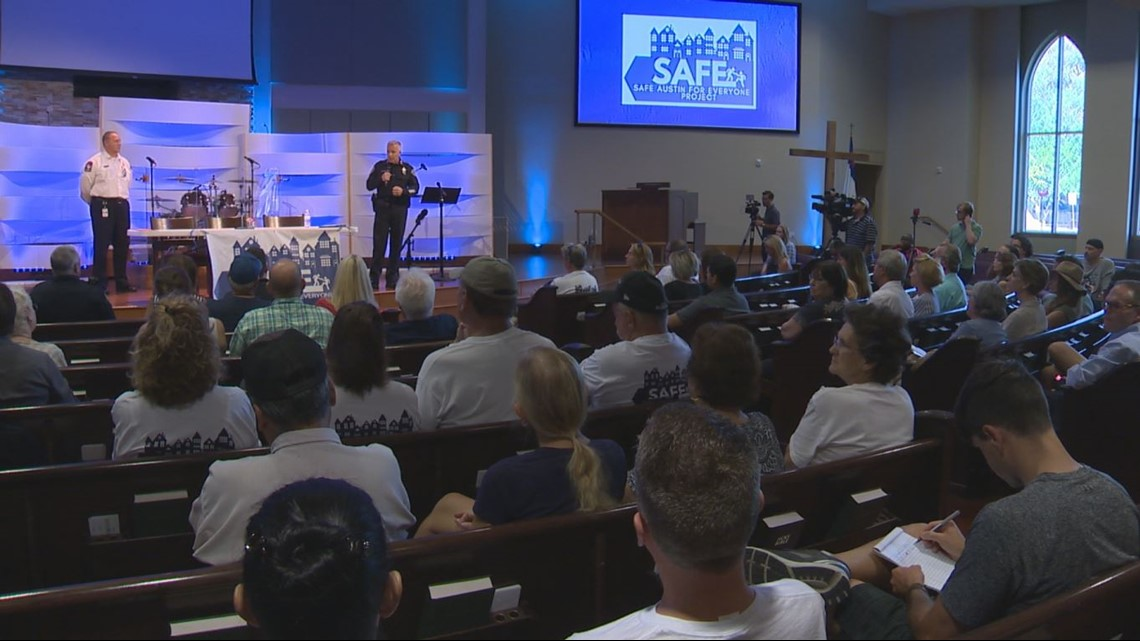 'This is not transparency': South Austin neighbors gather to speak out about proposed homeless shelter
