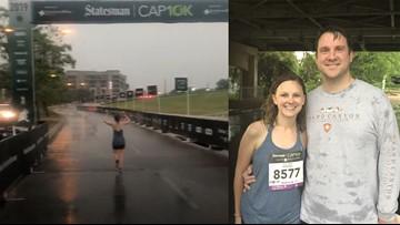 VIDEO: First-time runner dashes through finish line despite Austin Cap10K's cancellation