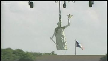 When the goddess took flight: The saga of Austin's best-known statue