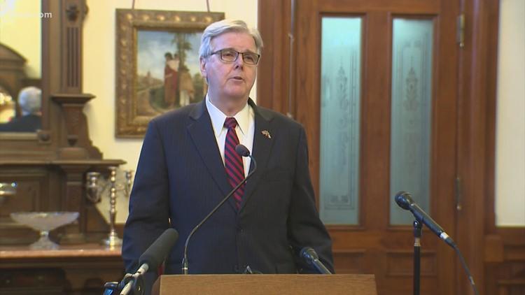 Texas Lt. Gov. Dan Patrick announces campaign for re-election