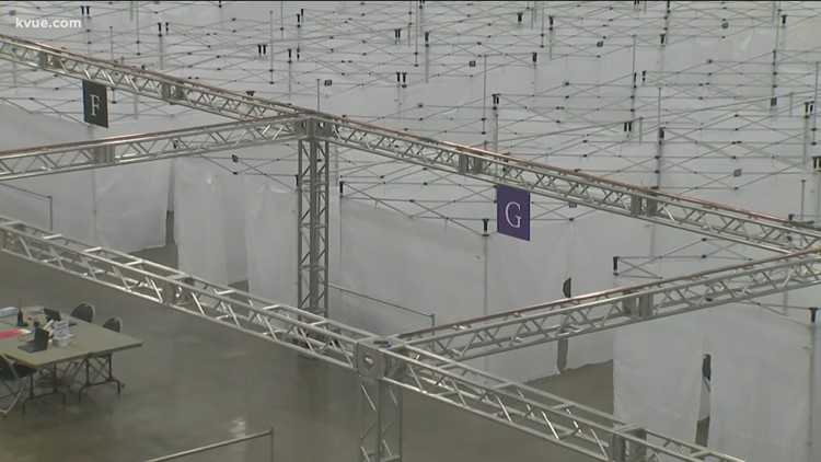 Case surge could trigger field hospital at Austin Convention Center